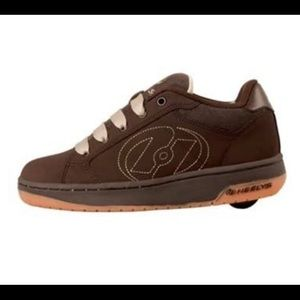NWOB Heelys Atomic Brown Wheeled Skate Shoes 6